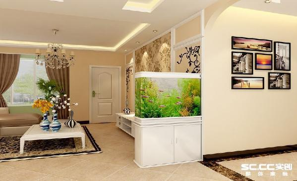 门厅欧式简约风格,在过道的一处墙面运用了照片墙,再配以仿古式的地砖,欧式团花的壁纸和地毯让整个空间更有家的温馨、舒适。