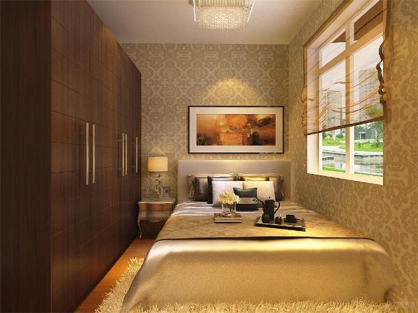 采用较亮的床上用品点缀,其中有一卧室采用L型衣柜。