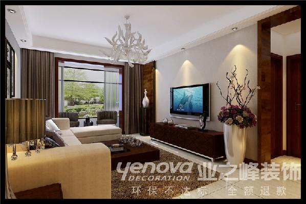 中正乐居140平米现代简约风格客厅装修效果图---太原业之峰
