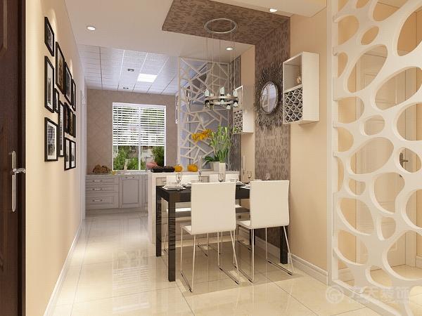 另一个亮点就是餐厅,餐厅采用L型吊顶既简单大方又能有效地区别空间。