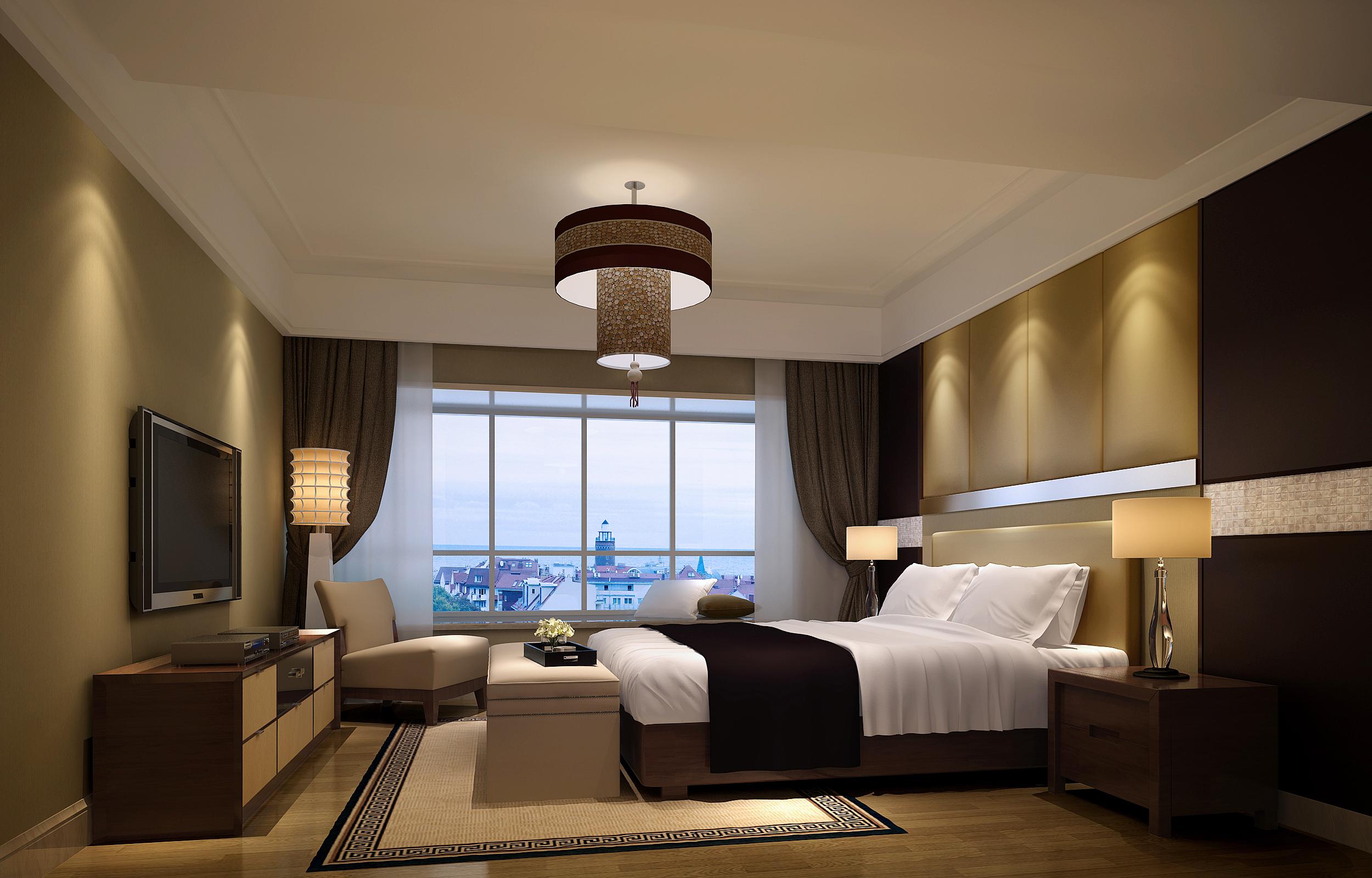 新中式四居室卧室榻榻米装修效果图大全