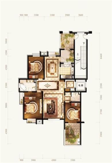 五矿铭品三室两厅两卫户型图