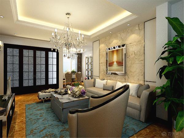 电视背景墙上装有壁灯,地砖为黄色复古地砖,整体感觉高贵!
