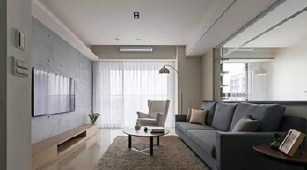 ▲ 宽大的落地窗给室内提供了充沛的自然阳光,加上玻璃材质的运用,空间明亮,视觉感宽敞