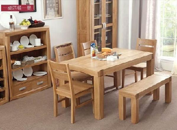 全美国白橡餐桌椅 oak dining tble and bench 1150*300*450