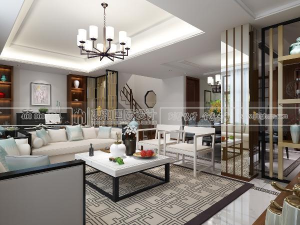 别墅装修新中式风格设计方案展示,赢和国际设计,上海别墅装修全案专家专业服务品牌,欢迎咨询预约!