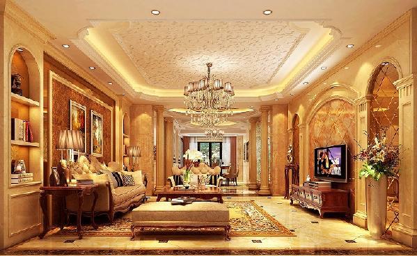 客厅:客厅的沙发,墙面的艺术镜给空间增添了些许的华贵气息,同时更是一种美的享受。