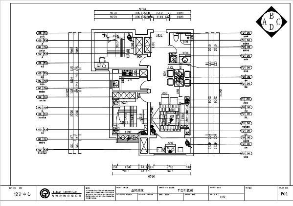整体户型空间布局合理,空间宽敞,动线清晰。