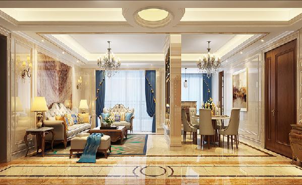 客餐厅:家居采用宽大精美的家具,配以精致的雕刻,整体营造出一种华丽、高贵、温馨的感觉。材质多采用樱桃木、胡桃木等高档的实木,表现出高贵典雅的贵族气质。朦胧、浪漫之感油然而生。