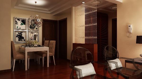 在材质选择上多倾向于较硬、光挺、华丽的材质。厨房的面积较大,操作方便,功能强大。厨房的多功能还体现在家庭内部的人际交流多在这里进行,这两个区域会同起居室连成一个大区域,成为家庭的重心。