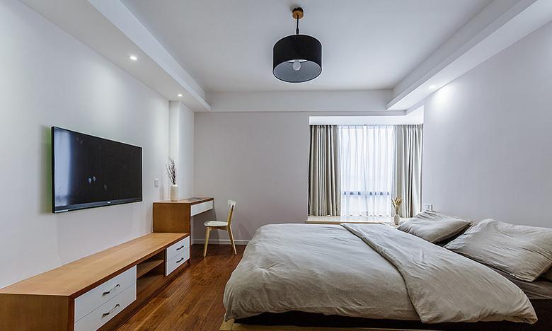 简约 三居 卧室图片来自一道伍禾装饰在领秀慧谷原木清新风设计的分享