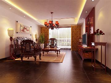 珠江帝景复式结构中式风格