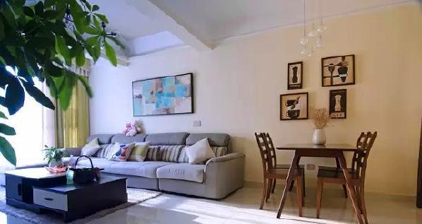 ▲ 墙面采用暖暖的浅咖色