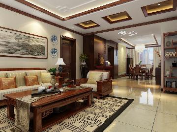 130平米新中式风格家居设计