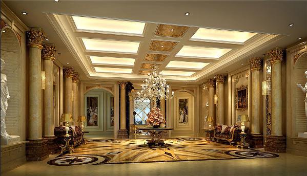 新茂润壹号商务会所古典欧式风格设计方案展示,上海腾龙别墅设计师孔继民作品,欢迎品鉴!