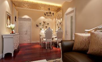 天津梵客家装85平两居室简欧风格