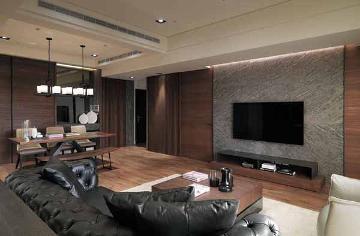 120平混搭风格三室两厅装修设计