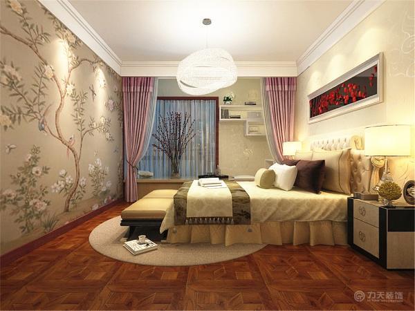 卧室通铺实木地板,给人一种干净舒适的感觉。主卧通铺壁纸,即简单又不单调。儿童房和客房都刷了乳胶漆。配合时尚的家具使整体空间布局合理,时尚大方。