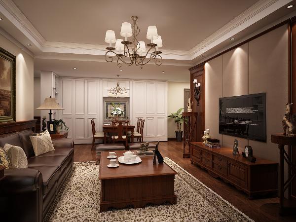 美式装修风格,家具带有复古感,沉稳、怀旧