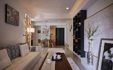 109平混搭风格三居室装修设计