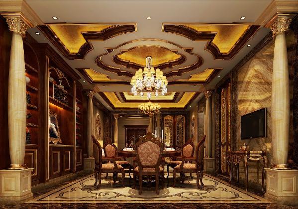 欧式别墅餐厅装修效果图片_装修美图-新浪装修家居网