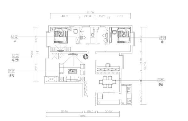本案是云景世家125平米两室两厅一厨两卫。现代简约风格,家具色调主干净清爽微暖。客厅采用3人沙发,家庭气氛更加的温馨,卧室空间大小适中,空间较为方正,拥有良好的居家环境。