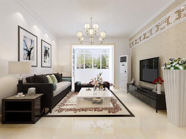 本案是云景世家125平米两室两厅一厨两卫,采用风格是现代,客厅采用3人沙发,家庭气氛更加的温馨。电视背景墙材质反射性强,但也大大拉伸了空间的灵活流动性。