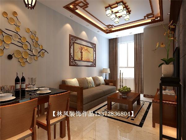 客厅地面采用了理石纹理的瓷砖,通过造型棚的不同区域的造型变化,把各个功能分区分割开,沙发选用实木扶手布艺的沙发,感觉舒适、沉稳,但不繁复。