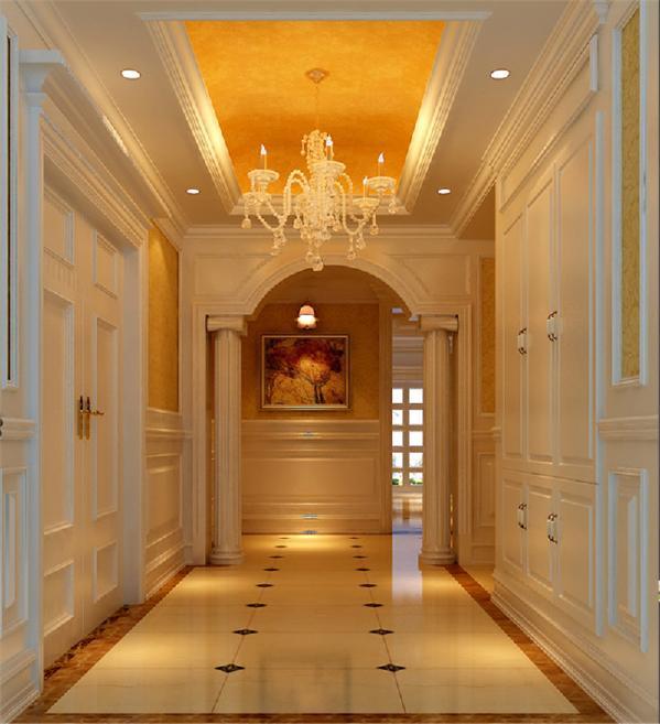单从拱形门窗的门厅设计上看,就把欧式建筑文化的展现得淋漓尽致。
