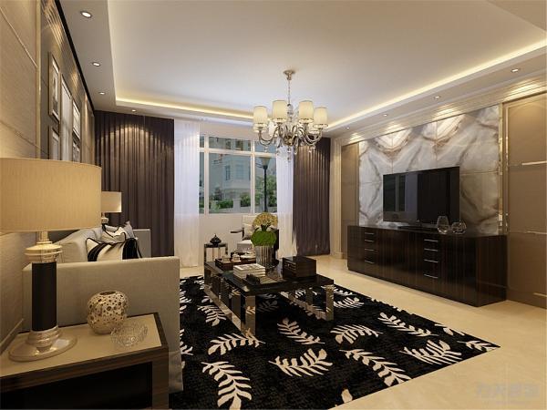 本方案从户型来看各个空间都安排的很规整,房间分布也很整齐,入户门开始,客厅和餐厅,地面采用800*800的大地砖,显得大厅宽敞明亮。