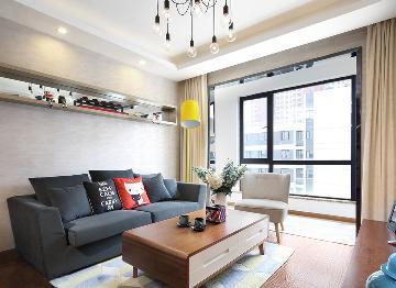 海普苑两室两厅100平北欧风格