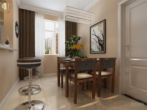 在餐厅处放一个吧台,即合理利用空间,也增加气氛。
