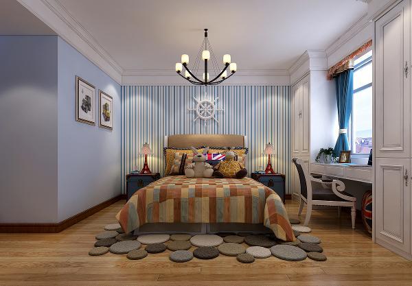 特殊是在墙面与家具以及陈设品的色彩选择上——自然、怀旧、散发着质朴气息的色彩是美式乡村风格的典型特征,壁纸大多也都选择富有颜色代表性。