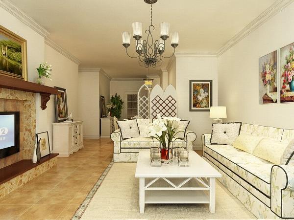 该户型金隅悦城两室一厅一厨两卫120㎡,方正明亮适于设计。我的设计风格是田园风格。