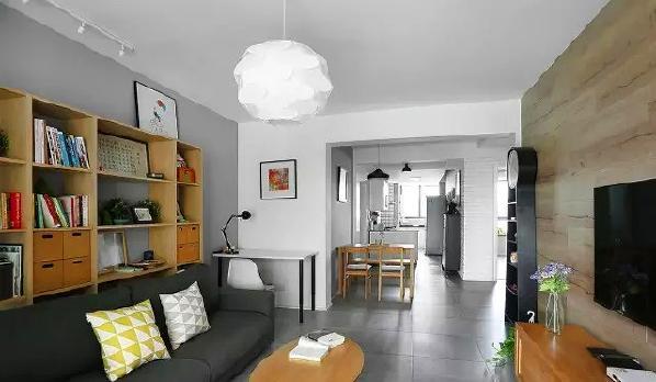 ▲ 整体空间设计以简洁为主,北欧中搭配日式,将同样以突显空间质感的两种风格和谐统一,干净清爽又不是温暖自然