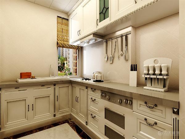 整体橱柜以简洁的白色为主