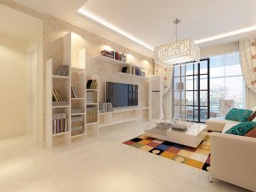 保利国际120平|简约风格三居室