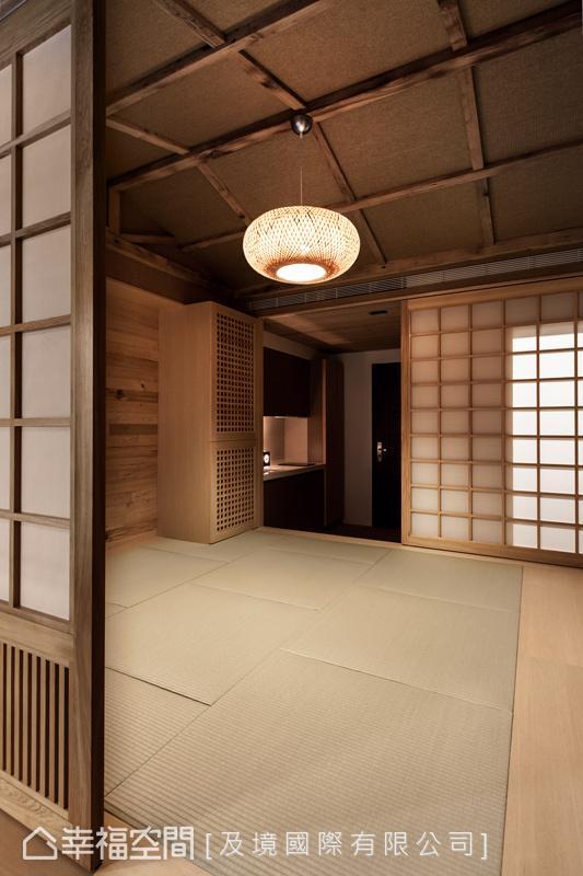 及境国际以日式斜屋顶、编织吊灯及榻榻米等元素,成功演绎宁静致远的日式精神。