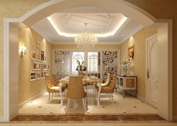 餐厅:不规则垭口把餐厅与客厅清晰划分开,使空间变得更宽敞,起到了很好装饰效果。把简单的餐厅赋予了生命力。
