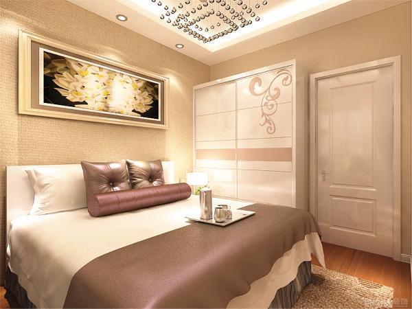 最后是字形,卧室装饰回灯带吊顶加床头采用,中间是吸顶灯,新风卧室墙背景系统西维图片