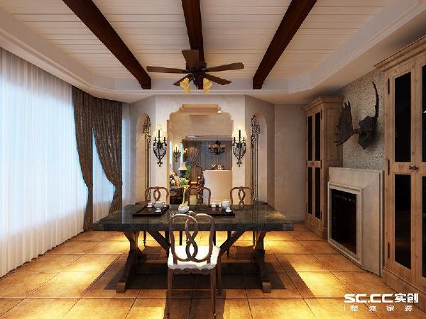 壁炉作为居室中心,是欧式风格最明显的特征