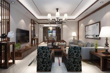 金辉世界城134三居室新中式风格