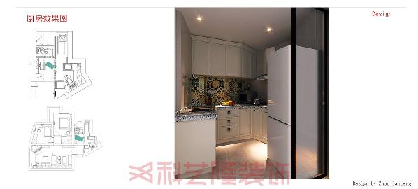 白色橱柜搭色彩斑斓的瓷砖,让厨房不在单调!