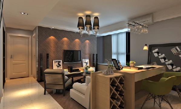 客厅地面与电视背景墙拥有了连贯感,在视觉上有了延续性。书房在造型中可谓是最具活跃的空间,让朋友来了可以一起互动的天堂。