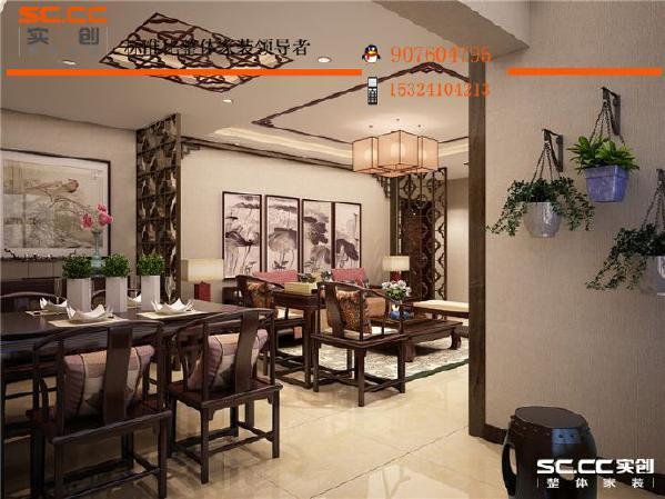 邯郸实创装饰--从餐厅望向客厅方向,通透明亮,视野充足!