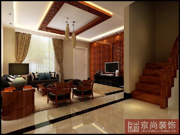 在中式风格的装修里面中国民族之风是不可以缺少的,特别是在色调上,朱红、绛红、咖啡色等等的大量应用。就是说庄重的色调是占主导地位的。
