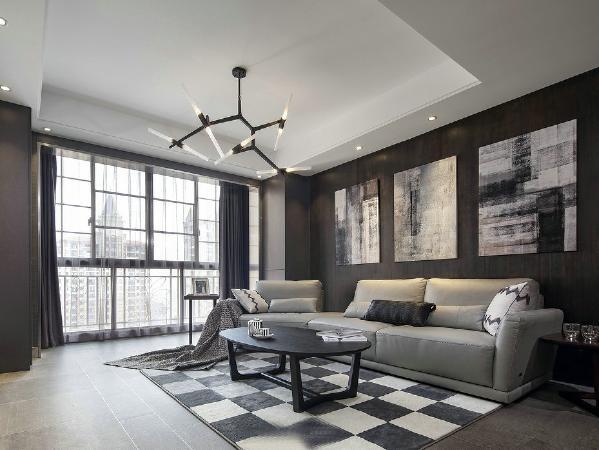 厨房开放式吧台和餐桌延续设计,视觉上增加了客厅的面积,也使整个空间采光更加敞亮。