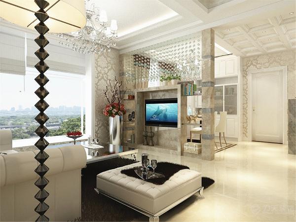 本次的设计风格是欧式风格.客厅做了回字形的吊顶并且