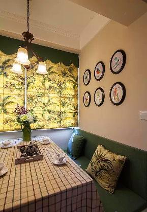 美式 小清新 二居 客厅 六里屯 餐厅图片来自高度国际装饰宋增会在六里屯小区80平美式小清新的分享