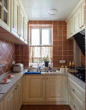 美式 小清新 二居 客厅 六里屯 厨房图片来自高度国际装饰宋增会在六里屯小区80平美式小清新的分享
